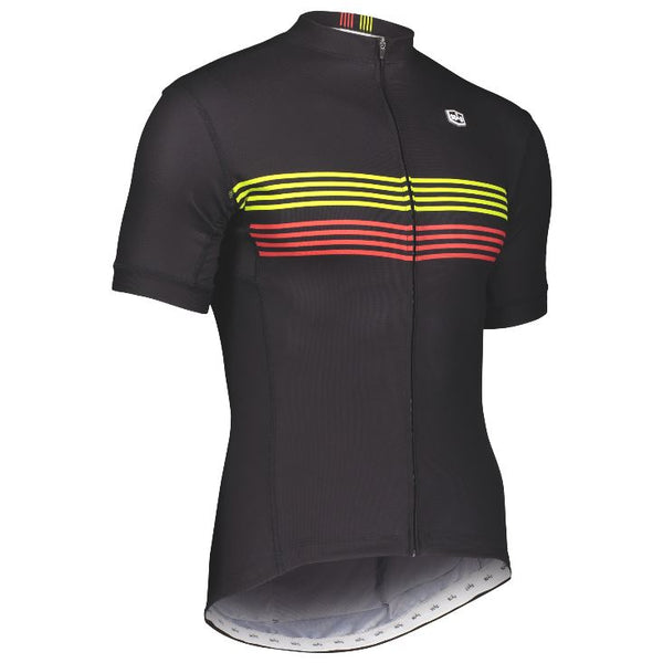 Solo Duo MK3 Jersey Black with stripes - Pitcrew.nz