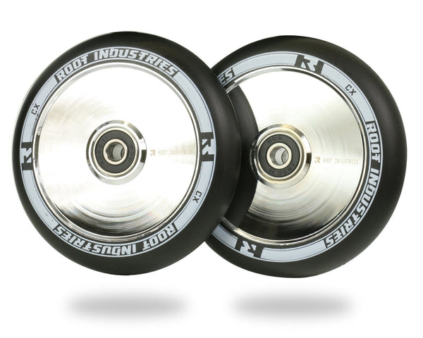 Root Scooter Wheels Black/Mirror 110MM - Pitcrew.nz