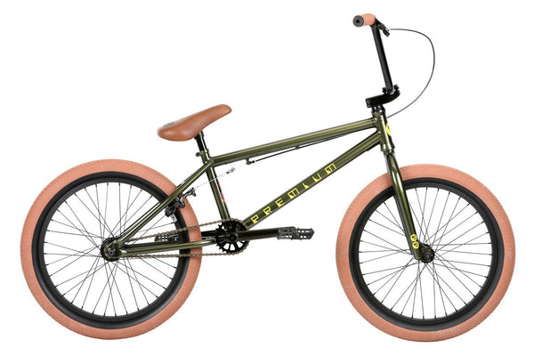 Premium Inspired 20.5tt Gloss Olive BMX - Pitcrew.nz