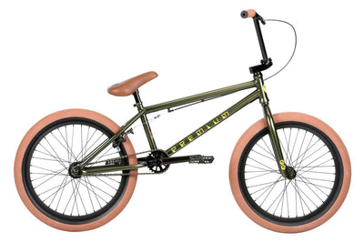 2019 Premium Inspired 20.5tt Gloss Olive BMX - Pitcrew.nz