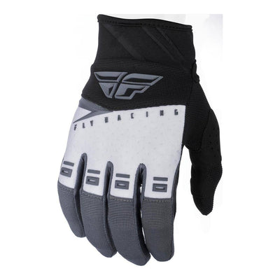 Fly F16 Youth Gloves Blk Wht Gry