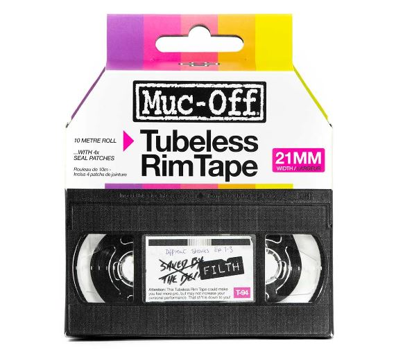 Muc Off Rim Tape 10m roll 21mm - Pitcrew.nz