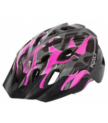 Kali Chakra Youth Flames Helmet Black/Pink