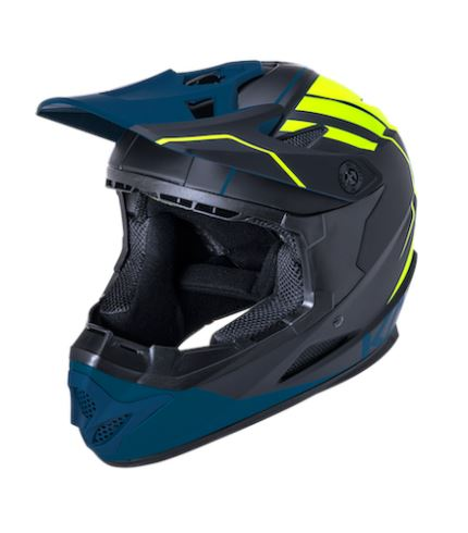 Kali Zoka EON Full Face Adult Helmet Blk Ylw Teal - Pitcrew.nz
