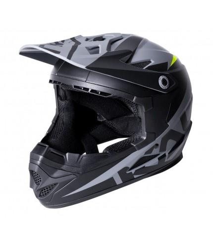 Zoka Full Face Youth Helmet Matte Black/Lime