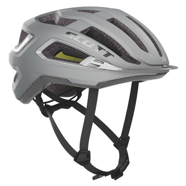 Scott Arx Plus Helmet Silver Reflective Grey Bike Parts Scott S