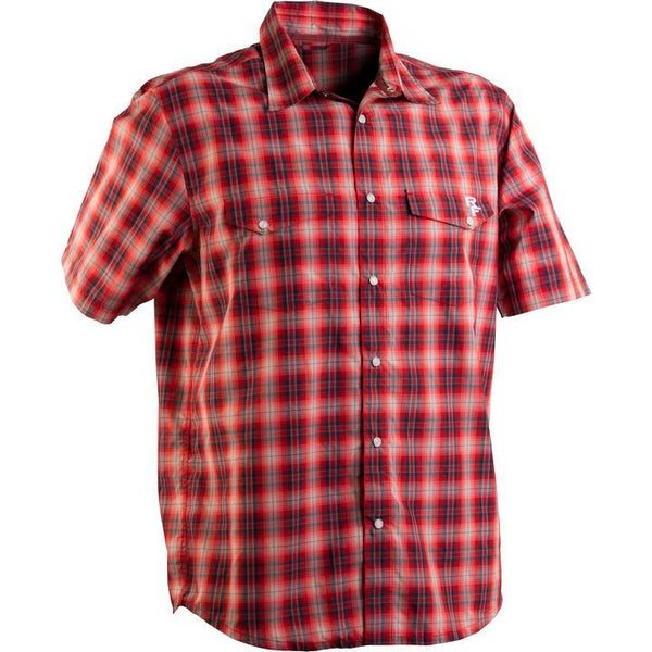 RaceFace Shop Shirt Grey/Red Plaid - Pitcrew.nz