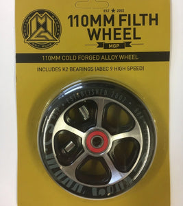 Wheel -  110MM Filth Alloy Wheel Scooter BLK