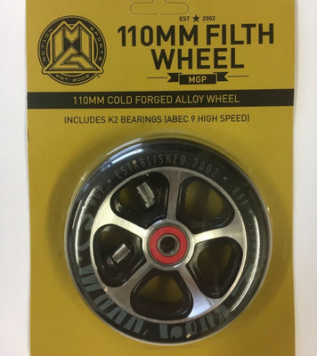 110MM Filth Alloy Wheel Scooter Black - Pitcrew.nz