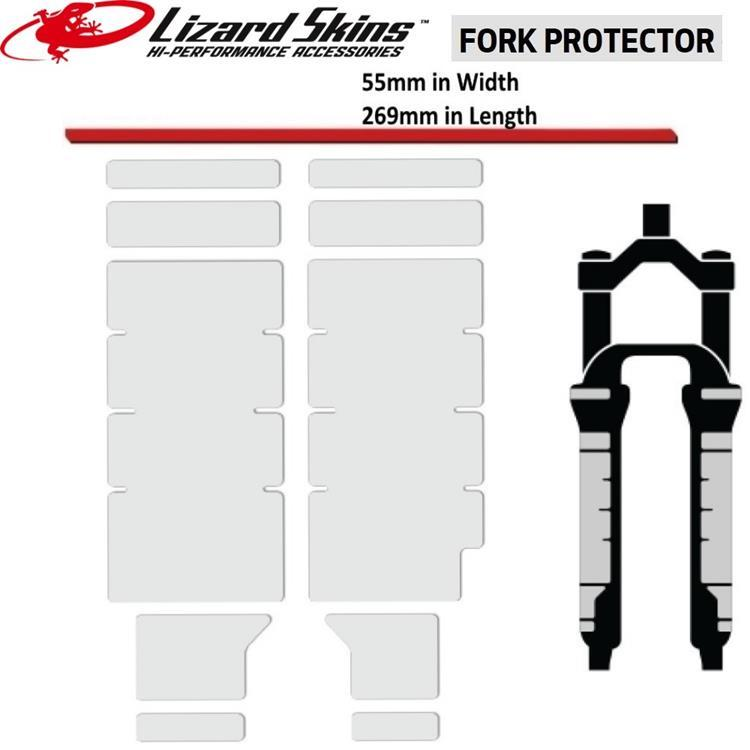 Fork Protector Kit Clear Lizard Skins
