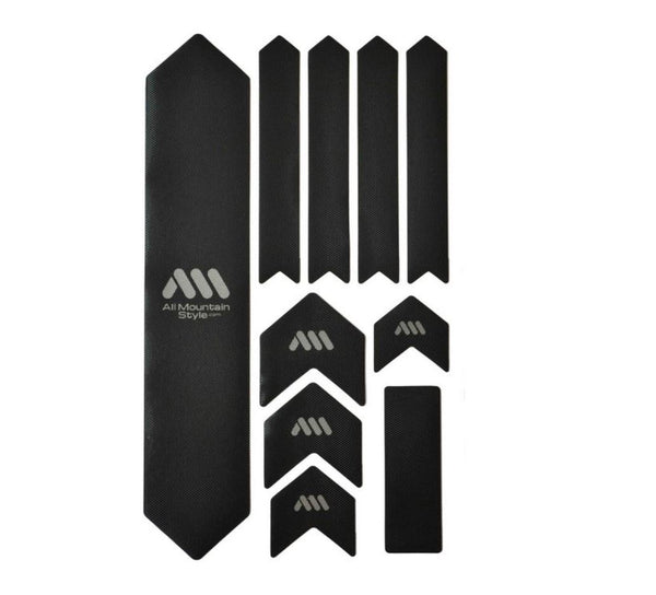 AMS Frame Guard Kit XL Black/Silver Bike Parts AMS