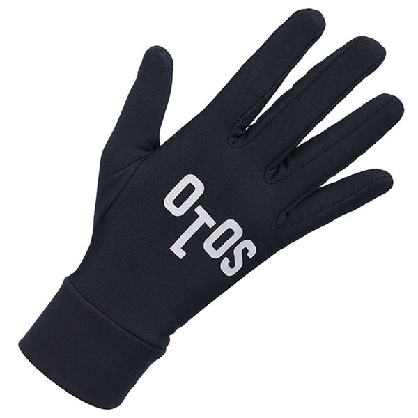 Solo Thermal LF Black Cycling Gloves - Pitcrew.nz