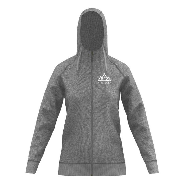 Scott Zip Hoodie Womens Grey - Pitcrew.nz