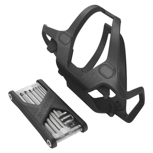 Syncros Tailor Bottle Cage with tool kit Black - Pitcrew.nz