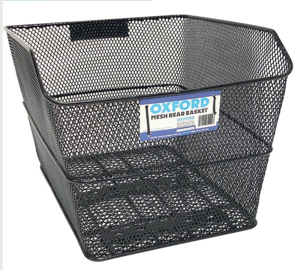Oxford Wire Rear Carrier basket black - Pitcrew.nz