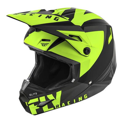 Fly Elite Vigilant Helmet Matt Black/Yellow Small BMX - Pitcrew.nz