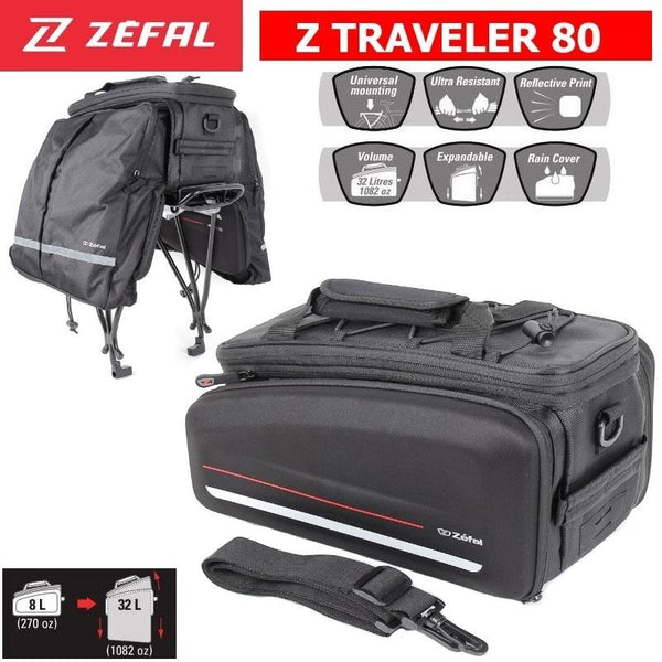 Zefal Traveller 80L bicycle pannier bags - Pitcrew.nz