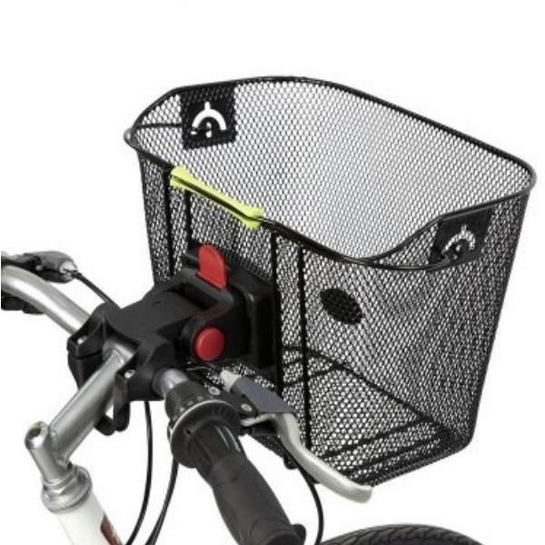 Black Wire basket with quick release - Pitcrew.nz