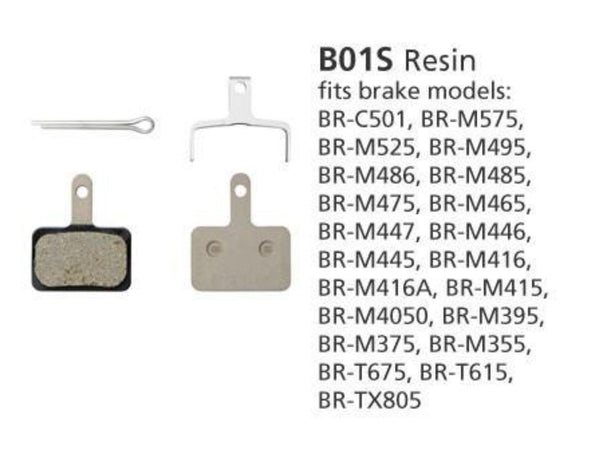 Brake Pads - Shimano B01S Disc Brake Pads M446 BULK-BOX - Pitcrew.nz