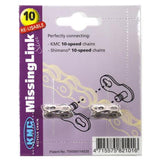 KMC Quick Chain Link 5.88MM 10SPD (2 Per Card) Silver Reuseable - Pitcrew.nz