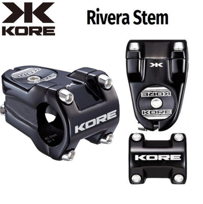 KORE Rivera Stem 31.8mm x 42.5mm Black - Pitcrew.nz