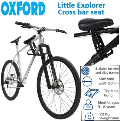 Oxford Top Tube Mounted Kids Seat - Pitcrew.nz