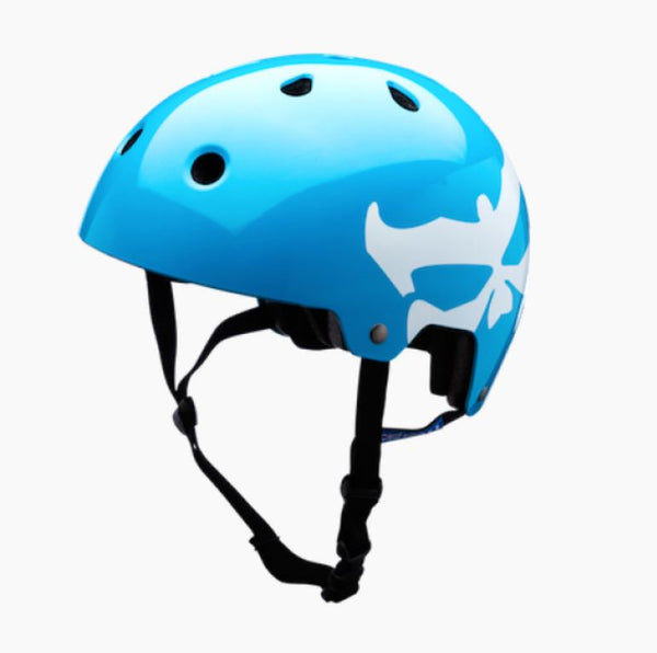 Kali Maha Logo Helmet Neon Blue Medium - Pitcrew.nz
