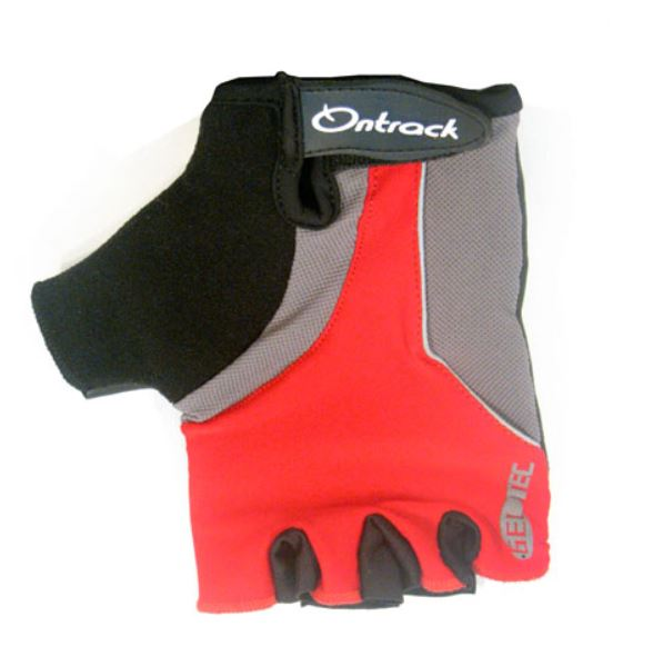 Ontrack Kids Fingerless Gloves Red - Pitcrew.nz
