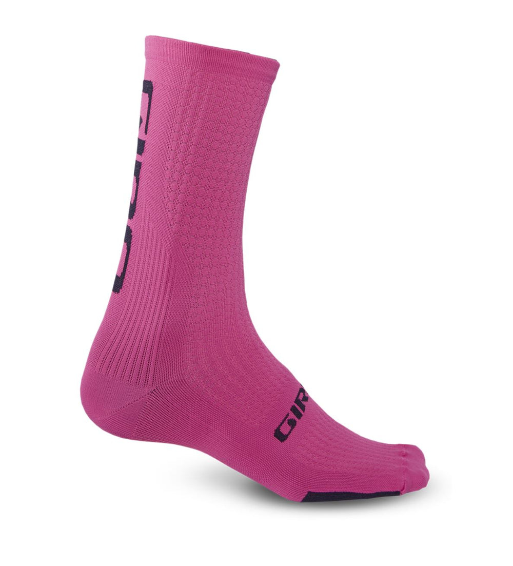 Giro HRC Hi Team Sock Pink - Pitcrew.nz