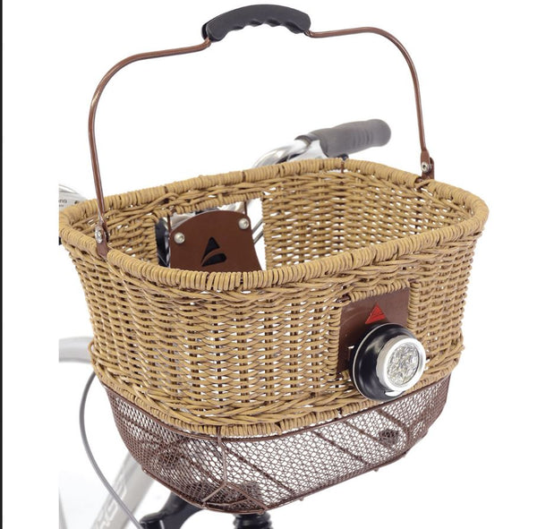 Axiom City Wicker front basket DLX - Pitcrew.nz