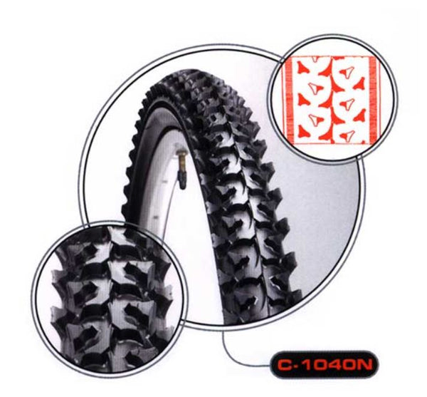 CST 24 x 1.95 Black C-1040N tyre - Pitcrew.nz