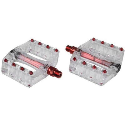 Gusset Pinhead Pedals Transl Red 9/16