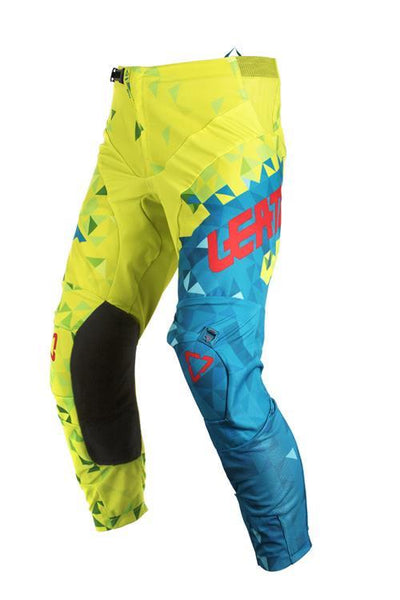 Leatt BMX Junior Pants GPX 2.5 Lime/Teal - Pitcrew.nz