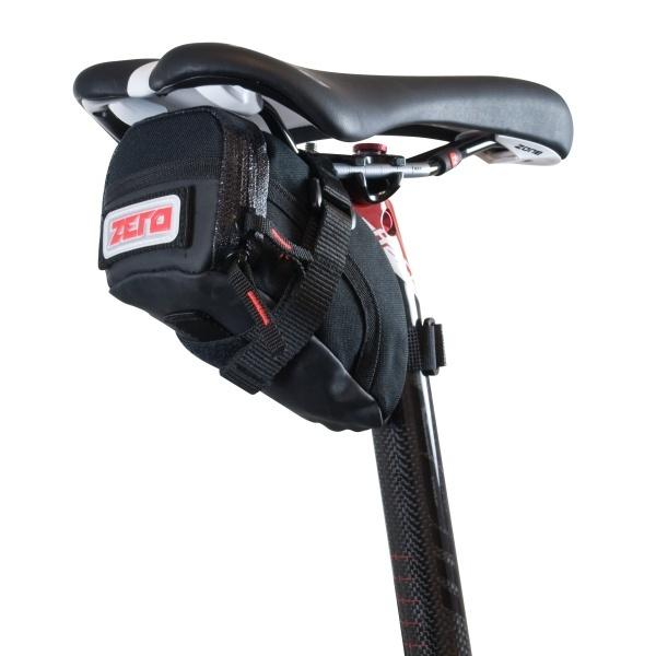 Zero Saddle bag with velcro straps Medium Black - Pitcrew.nz