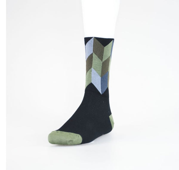 Solo High Icon Socks Chevron black/olive - Pitcrew.nz