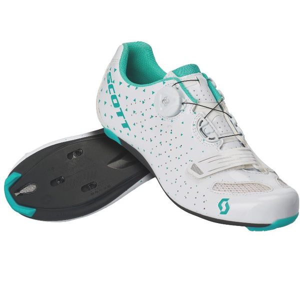 Scott Road Comp Boa Shoes Lady White /Turquoise - Pitcrew.nz