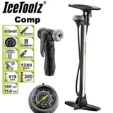 IceToolz Comp Floor Pump Grey