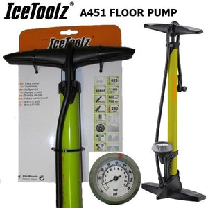 IceToolz Sport Floor Pump Green