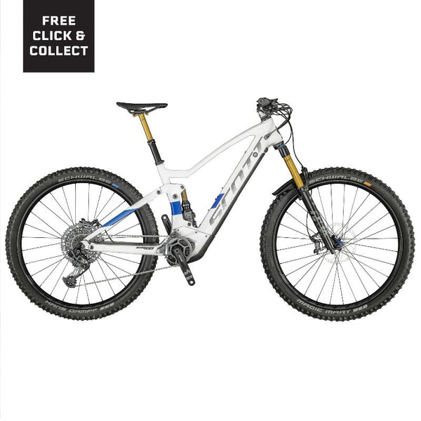 2021 Scott Genius eRide 900 Tuned White Blue Bikes Scott S