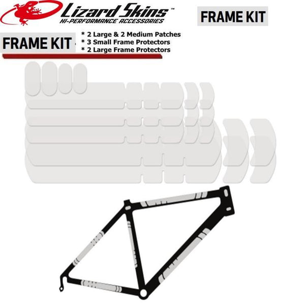 Lizard Skins Frame Protector Kit Clear - Pitcrew.nz