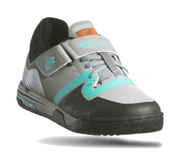 Unparallel Womens Dustup Shoes Grey/Turquoise/Black Bike Parts Unparallel US8 / EU39