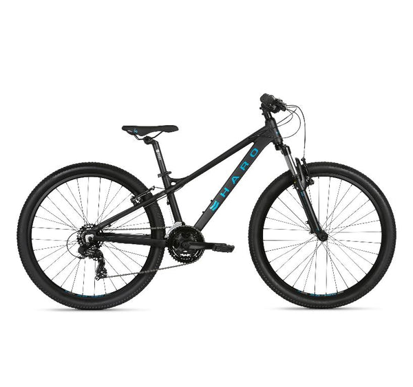 2021 Haro Flightline One 26 Matte Black Blue 13