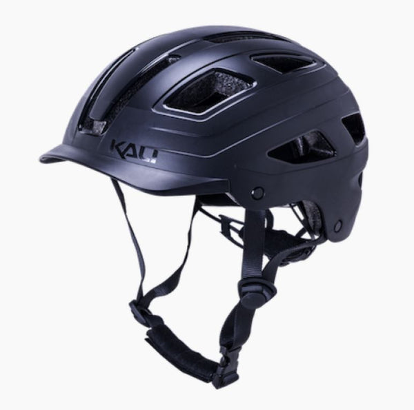Kali Cruz Black Helmet with light Bike Parts Kali S/M