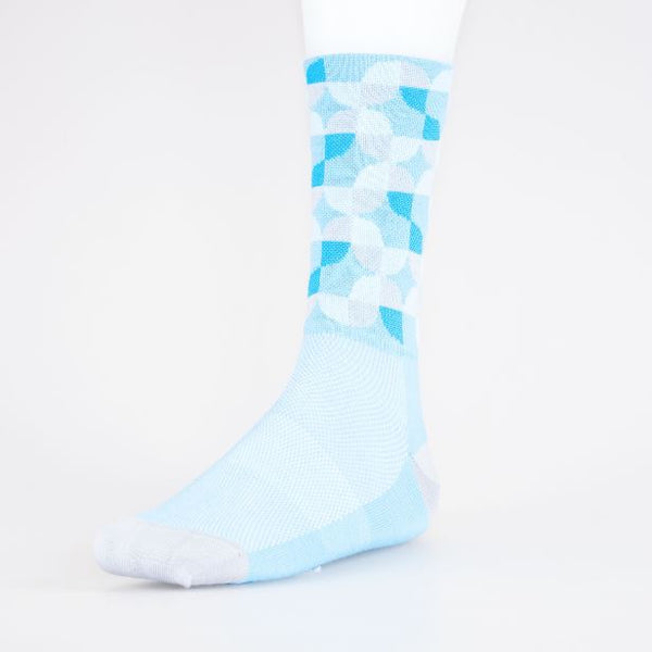 Solo High Icon Retro Socks Light Blue White - Pitcrew.nz