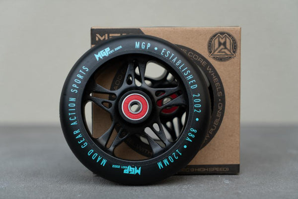 MGP Wheel 120mm Fuse Scooter Wheels black/teal Pair - Pitcrew.nz