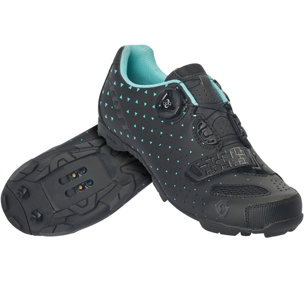 Scott MTB Comp Boa Lady Shoes BLK/Turquoise - Pitcrew.nz