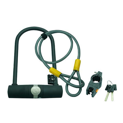 Zero U Bike Lock w/Cable and Key - Pitcrew.nz
