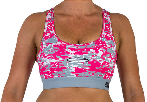 HOLLYWOOD Sports Bra - Pink Camo