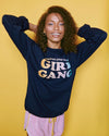 Dazey X Girl Gang Navy Crewneck