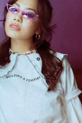 Building A Fempire Grey Tee